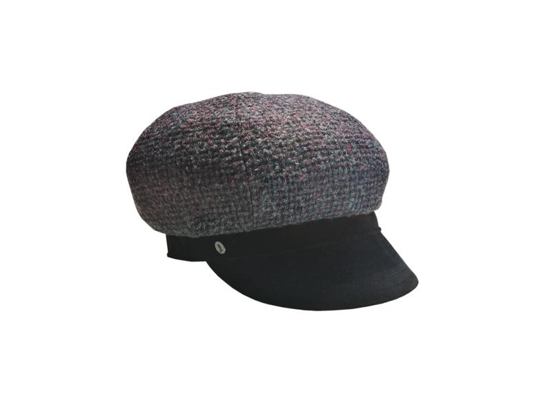Velvet peak bereton, grey bordeaux black