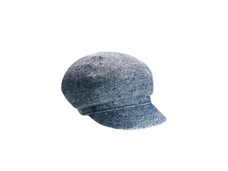 Fabric boutonée bereton, blue denim