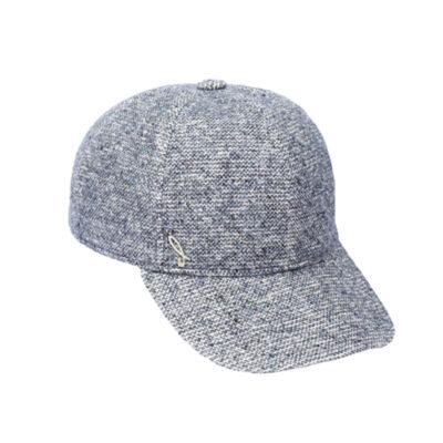 Boutonée fabric baseball cap, blue denim