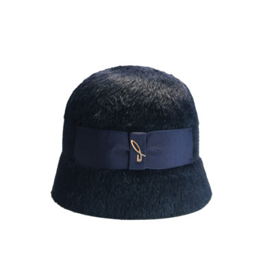 Cloche in feltro melousine blu