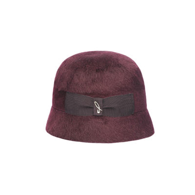Cloche in feltro melousine bordeaux