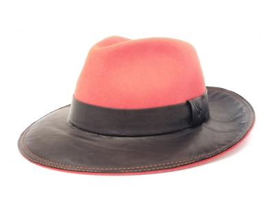4ba0277c80a Salinero. Fur Felt and leather Drop Hat