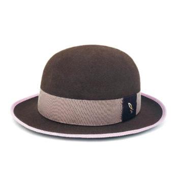 Cappello Bowler in Feltro ad ala corta Negroamaro Talpa Cipolla