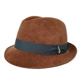 Cappello Trilby in Feltro color Castagna e Scarabeo
