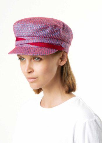 Baki Cappello Baker Boy Celeste indossato Doria 1905