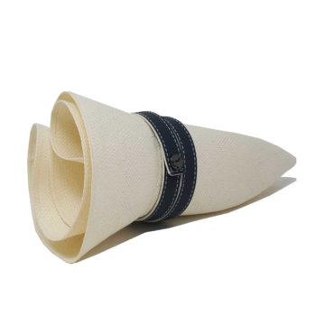 Antigua Roll Hat White Navy Blue
