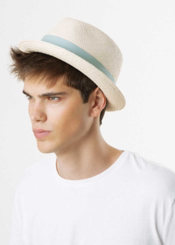 Finch Drop Panama Hat White for Man Doria 1905