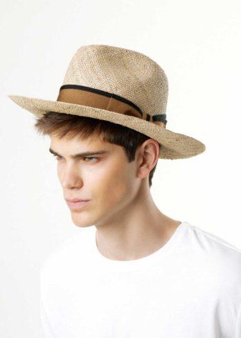 Mirto Fedora Straw Hat Natural for Man Doria 1905