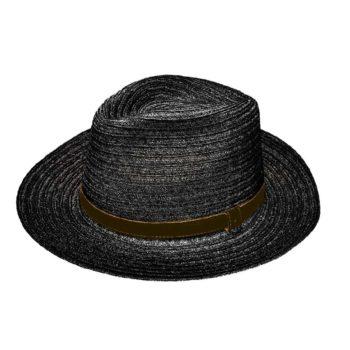 Orlando Drop Hat Black and Cocoa