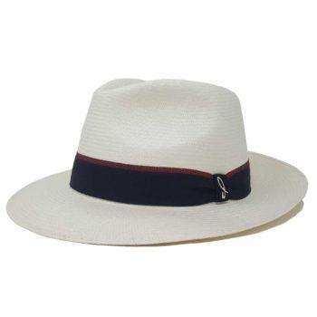 Portofino Cappello Panama Fine Bianco e Negroamaro