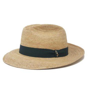 Fedora Cappello Panama ad Ala Media Naturale Navy Doria 1905